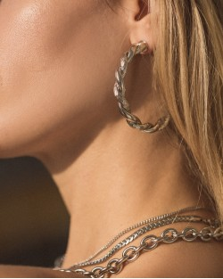 Evelyn Hoops Silver