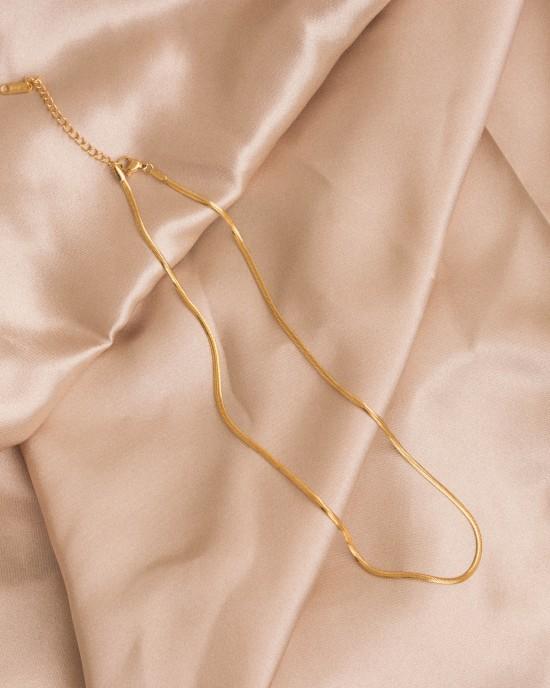 Snake Necklace Gold