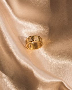 Bold Chain Ring Gold