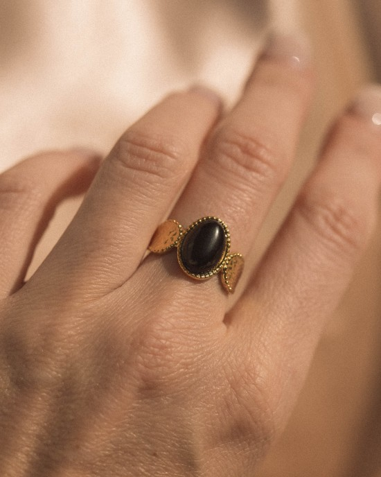 Agata Ring Gold