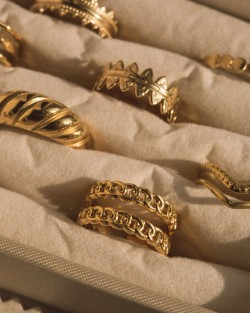 Double Chain Ring Gold